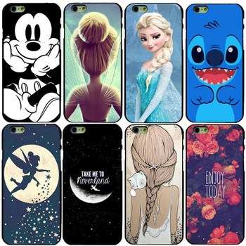"IPhone 6 s Durum Için Tinker Bell Elsa Peter Pan Kapak Apple iPhone 6 6 S 4.7 ""çapa Sert Arka Telefonu Coque Fundas"
