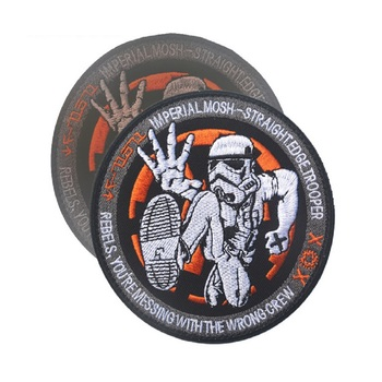 100 piece a lot 3D Embroidery armband Imperial soldier patches U.S.A Seal Marines patches America flag Star Wars patch badges