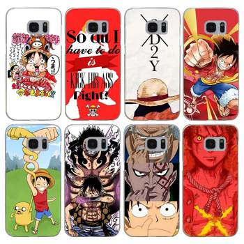 G196 One Piece Luffy Şeffaf Sert PC Case Kapak Samsung Galaxy S Için 3 4 5 6 7 8 Mini Kenar Artı Not 3 4 5 8